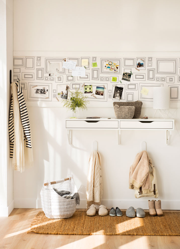 Decora tu piso de alquiler empieza por el recibidor - Papeles pintados modernos pared ...