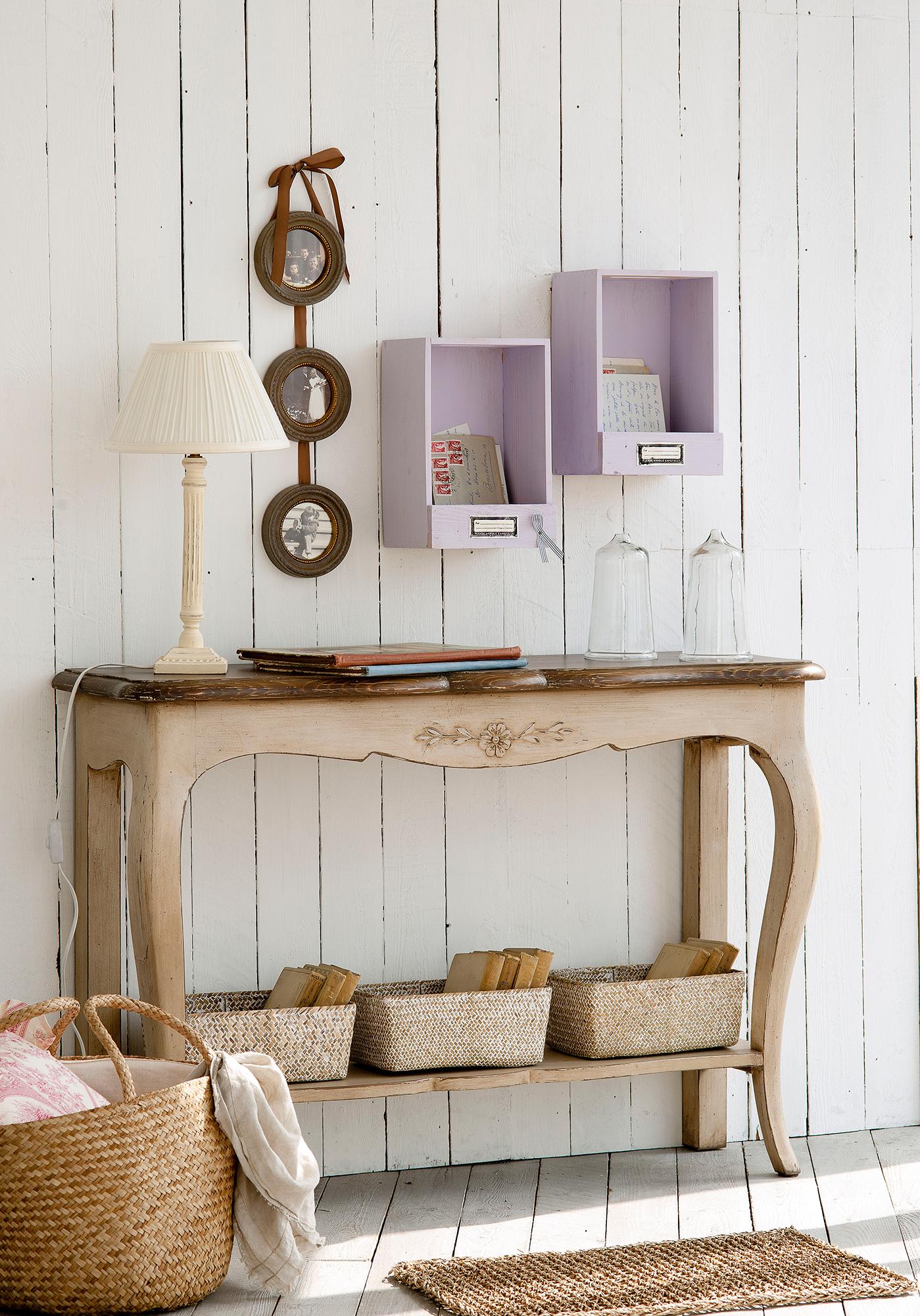 Recibidor muebles zapateros e ideas para recibidores - Pared de madera ...