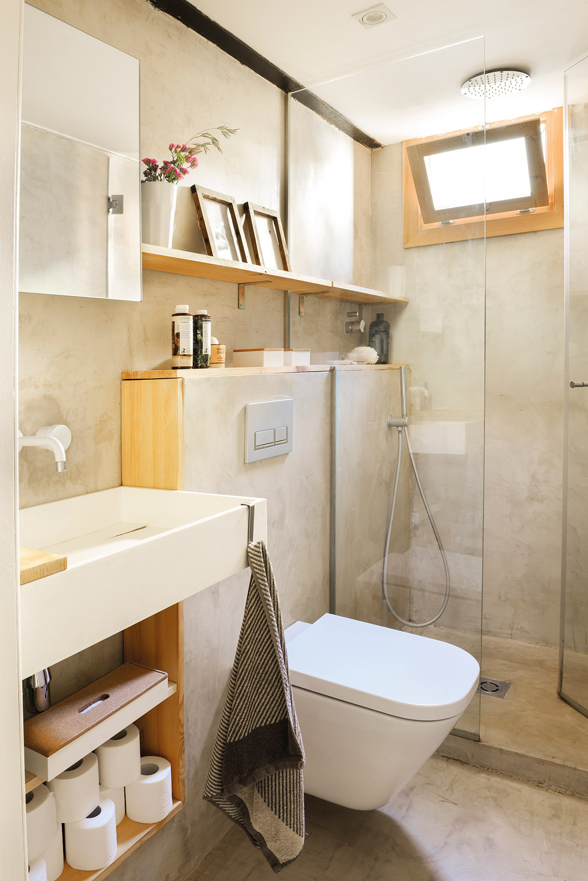 Ideas para aprovechar al m ximo el espacio de un piso peque o for Muebles para dentro ducha
