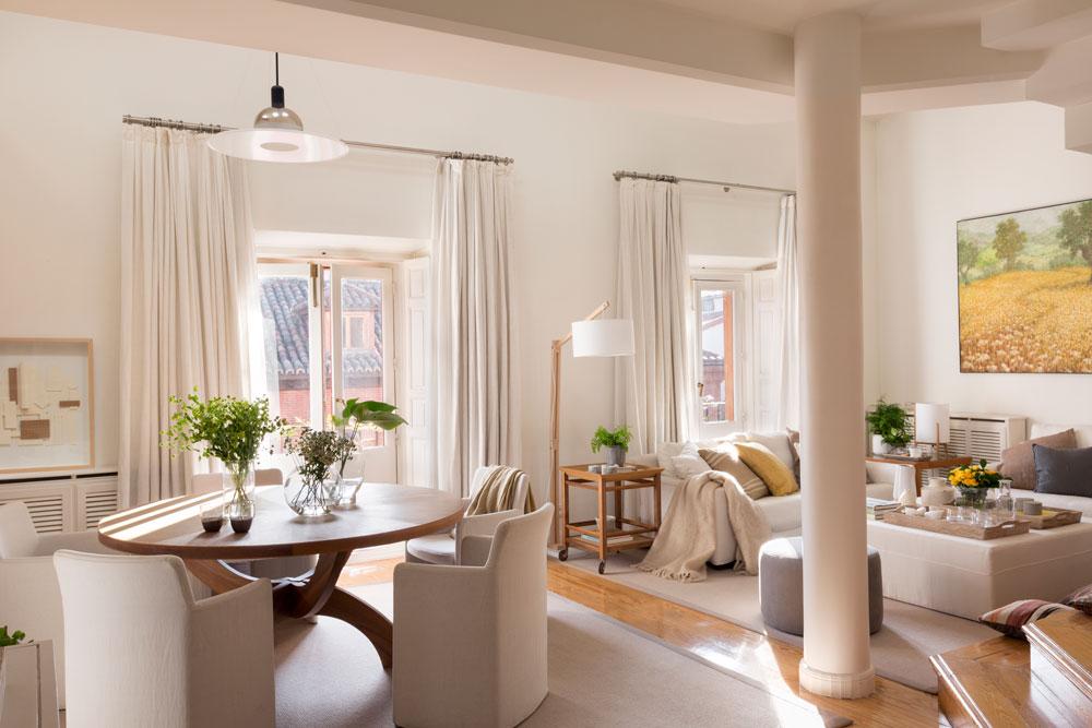 Integrar columnas en casa - Como disenar un salon comedor ...