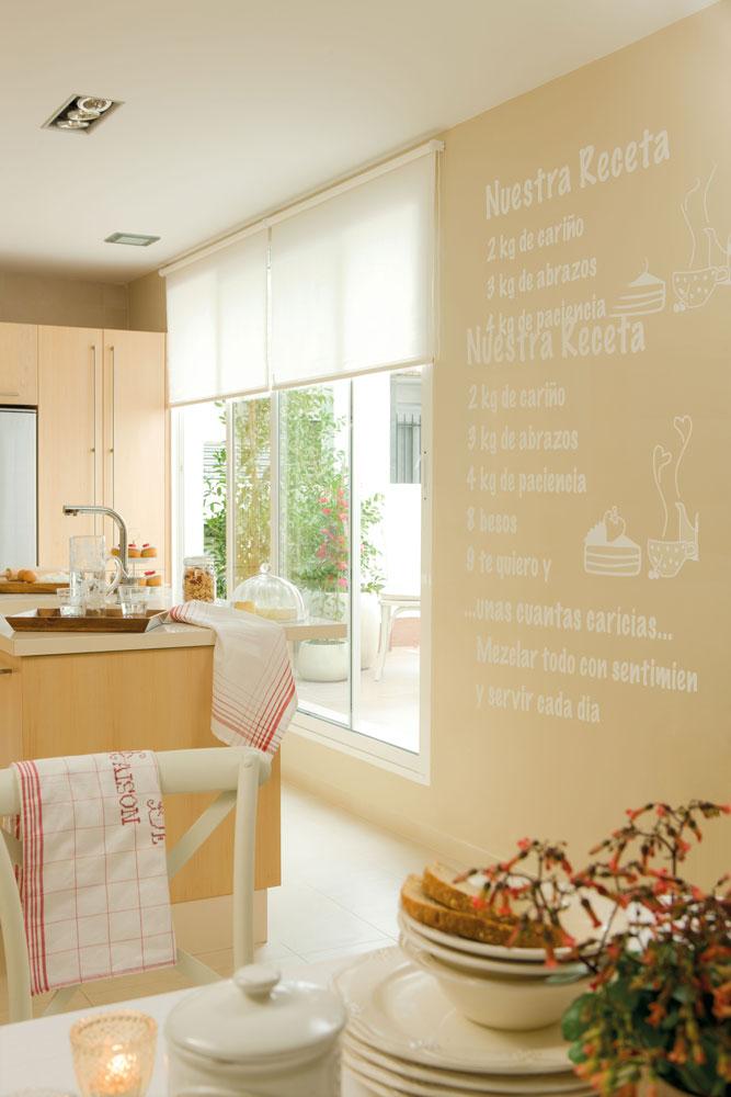 Piso de alquiler ideas para decorar la cocina - Paredes decoradas con vinilos ...
