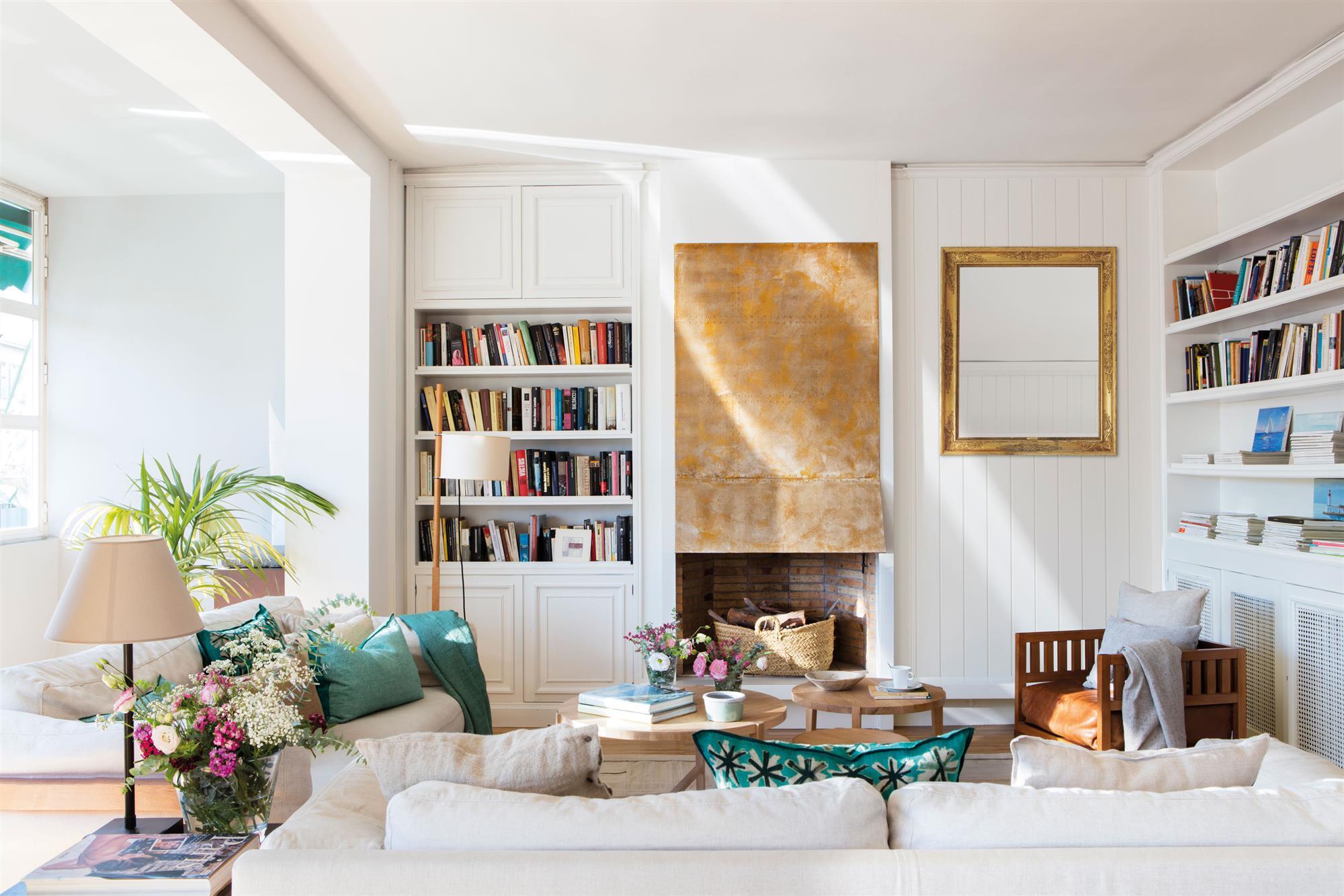 Librer as de todos los estilos en el mueble for Librerias salon modernas