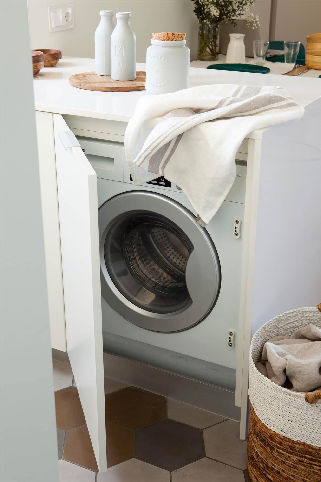 Ideas para aprovechar el espacio en las cocinas peque as - Lavadora secadora pequena ...