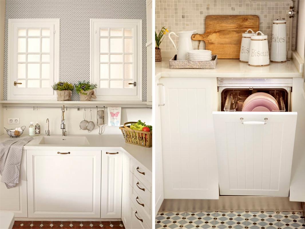 Cocinas muebles decoraci n dise o blancas o peque as elmueble - Orden en la cocina ...