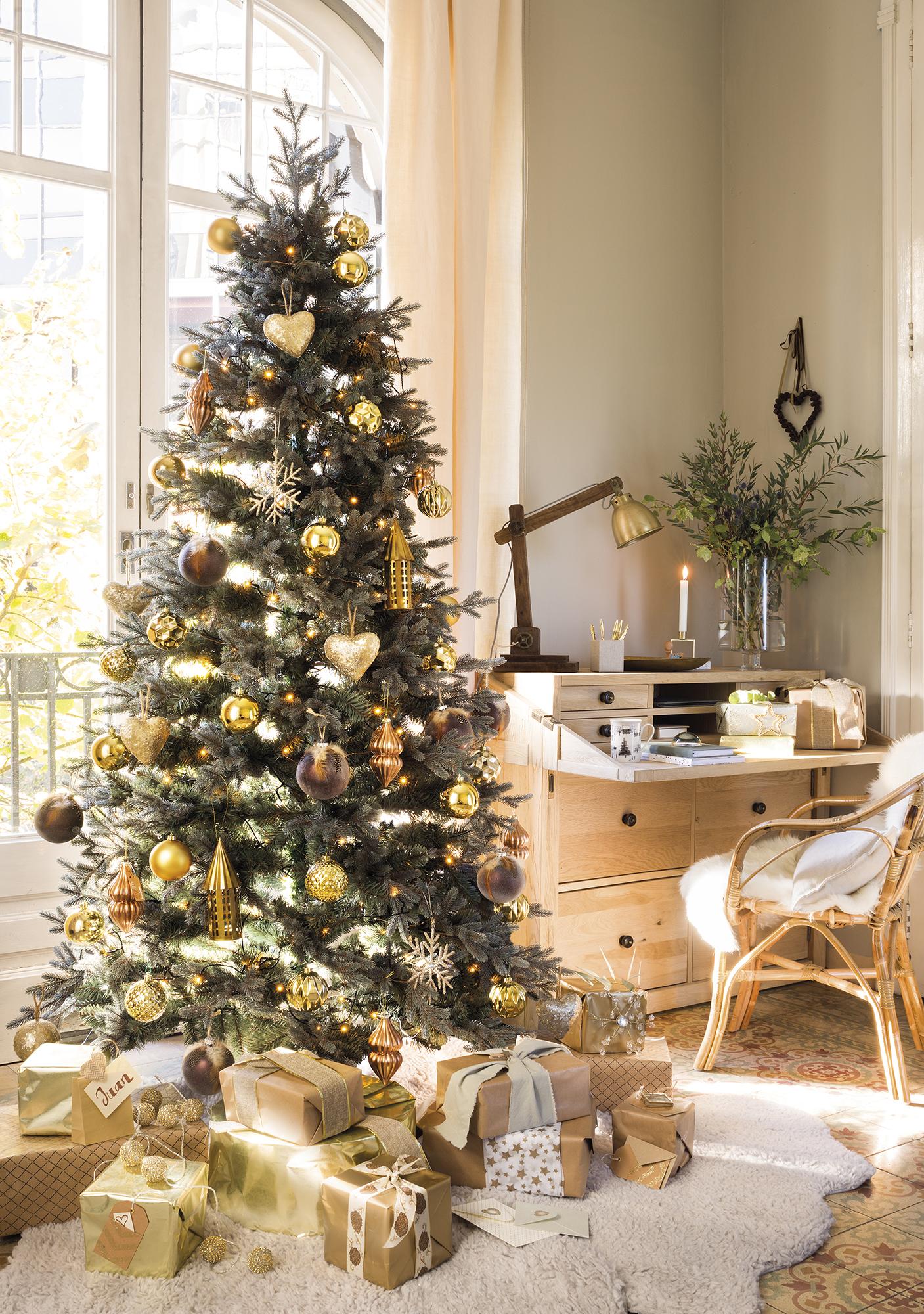 Decora tu casa de navidad con dorado - Adornos para navidad ...