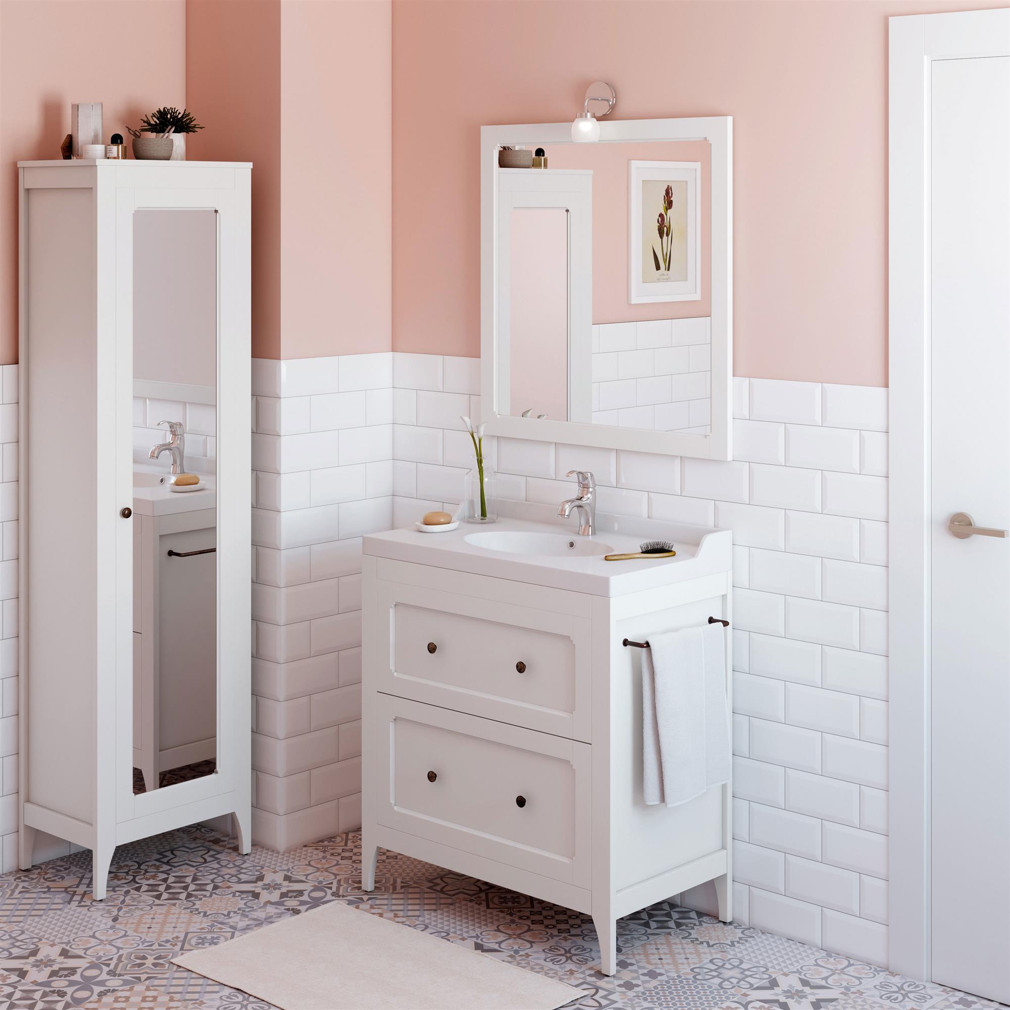 Ba os mamparas muebles espejos todo para la decoraci n elmueble - Columna bano leroy merlin ...