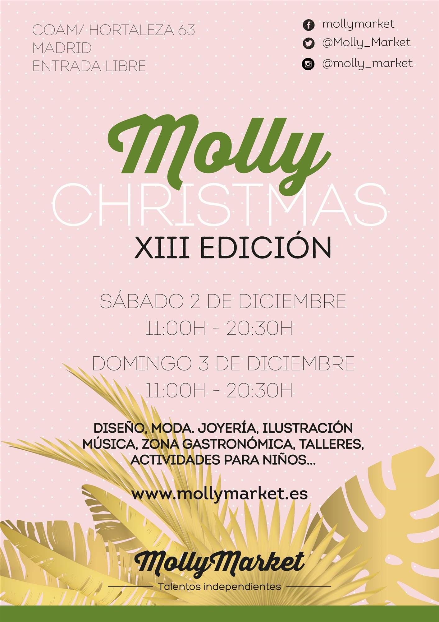 cartel moll christmas market. Molly Christmas Market (Madrid)