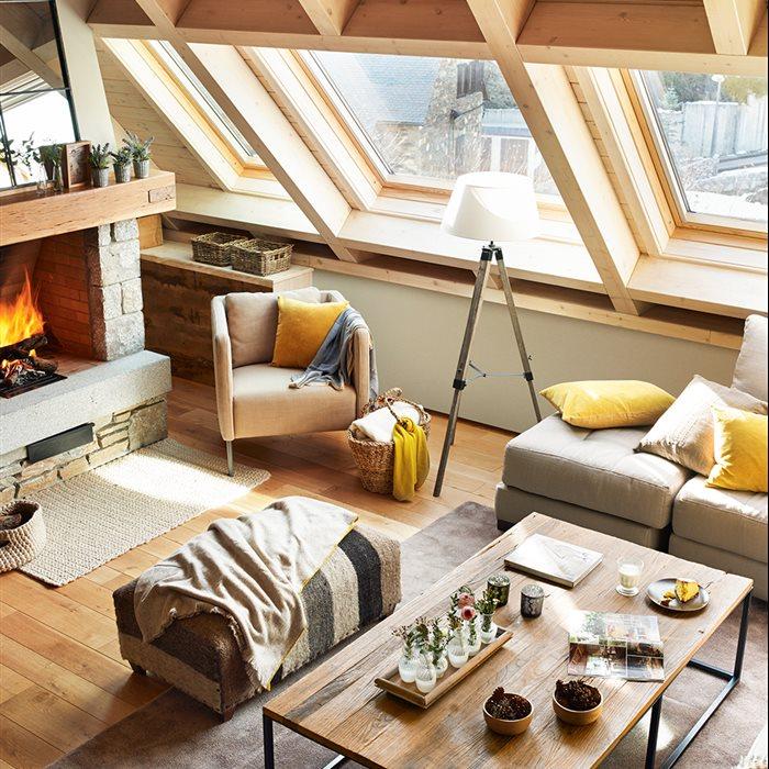 C mo crear un espacio relajado y c lido para una casita de - Casas de madera por dentro ...