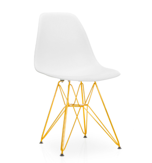 Silla Eames Tower White & Gold Edition, en Superestudio. Trono de oro