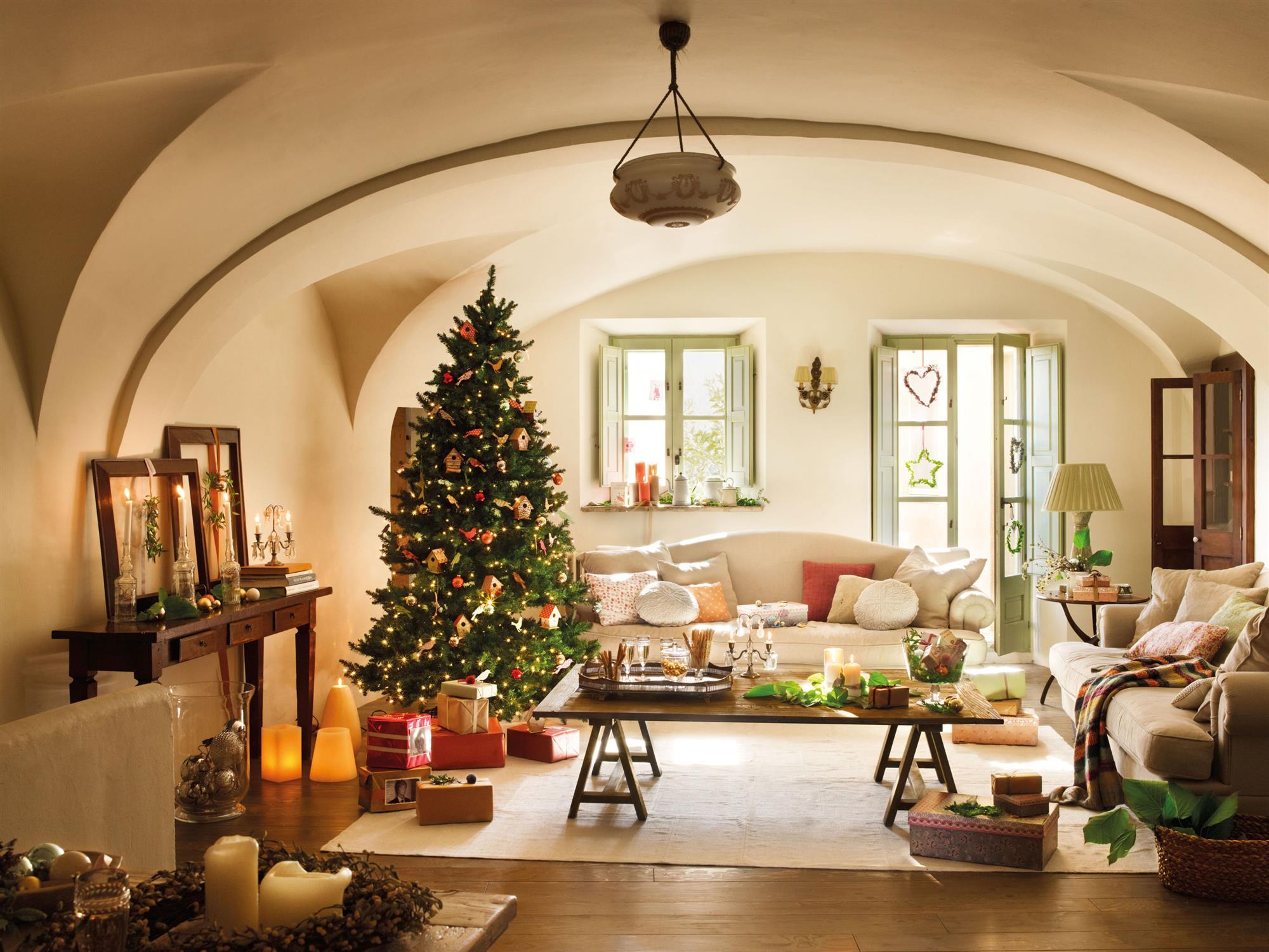 Ideas para decorar una casa de monta a de navidad - Adornos para el salon de casa ...