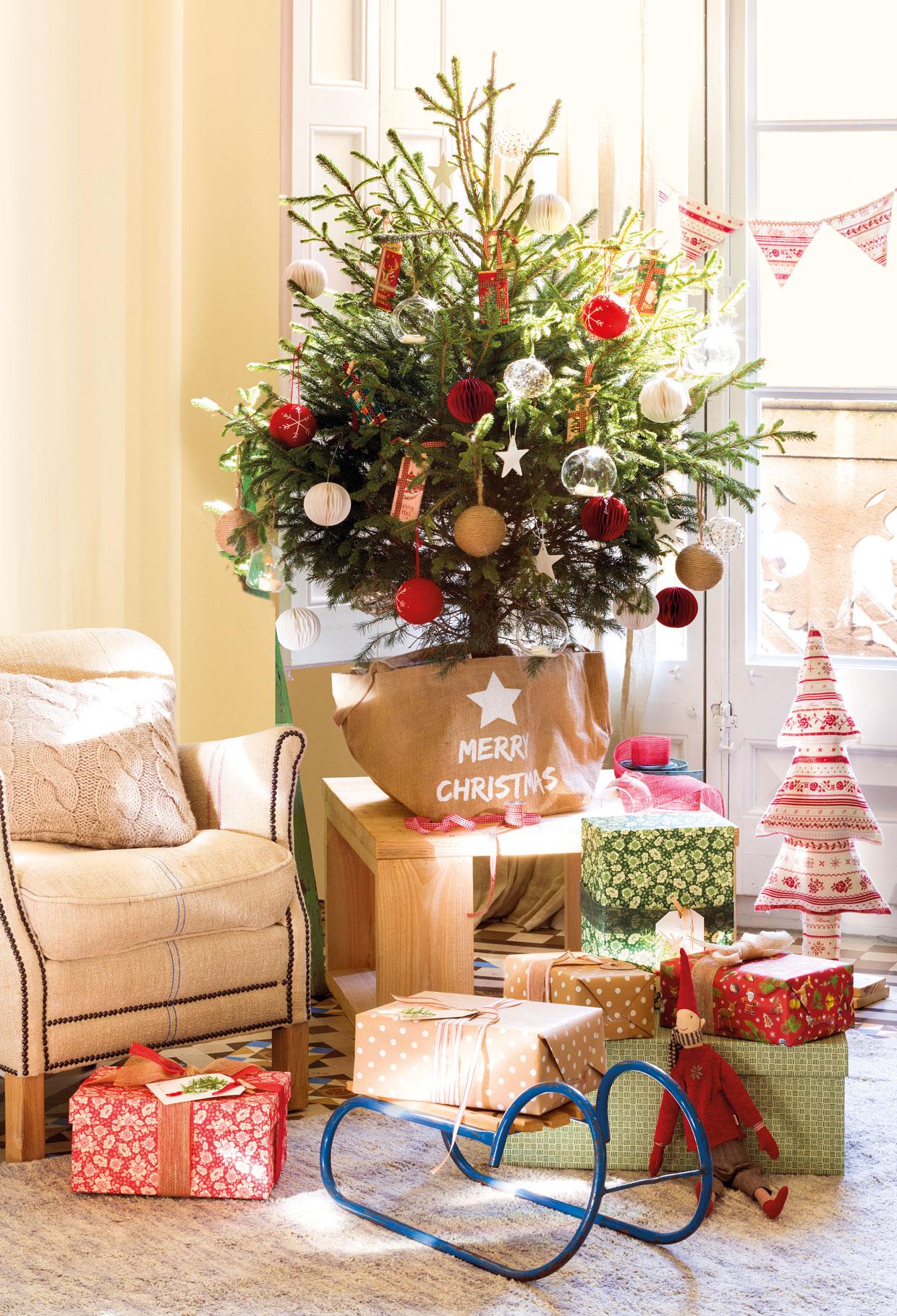 Lugares donde poner el rbol de navidad en casa - Arboles de navidad pequenos ...