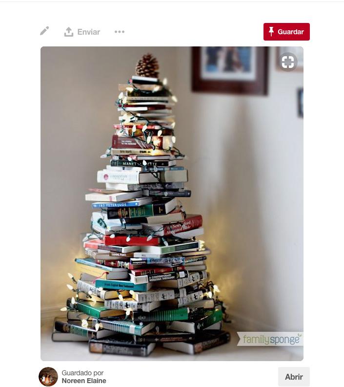 Rboles de navidad diferentes - Arbol de navidad con libros ...