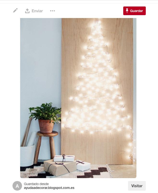 Rboles de navidad diferentes - Arbol de navidad hecho de luces ...