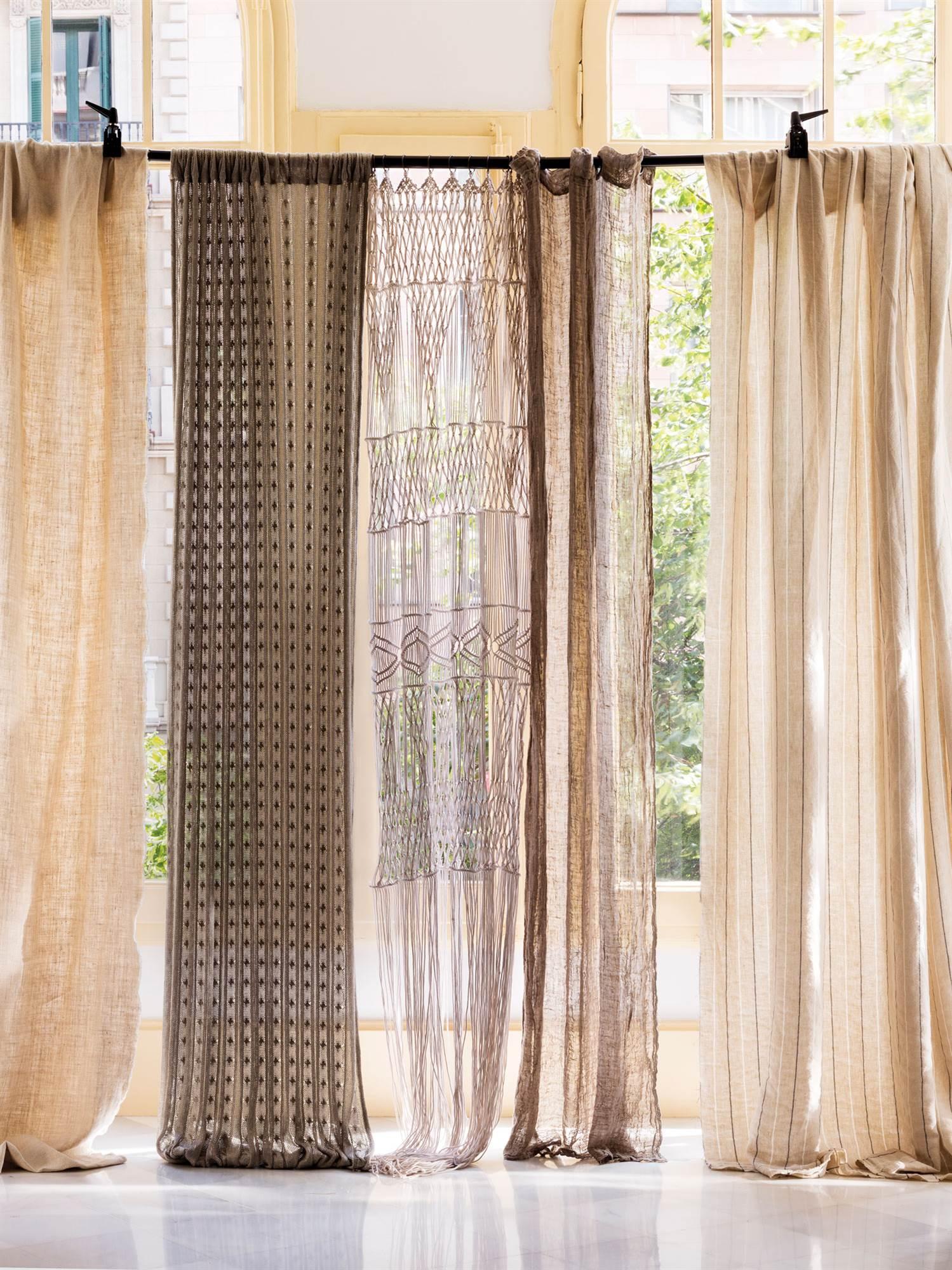 Cortinas cortinas para tu sal n o dormitorio telas e for Telas para cortinas salon