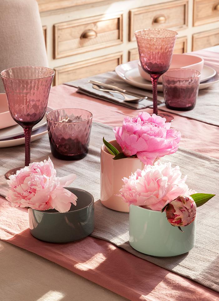 C mo combinar los vasos de cristal de colores for Vasos cristal colores