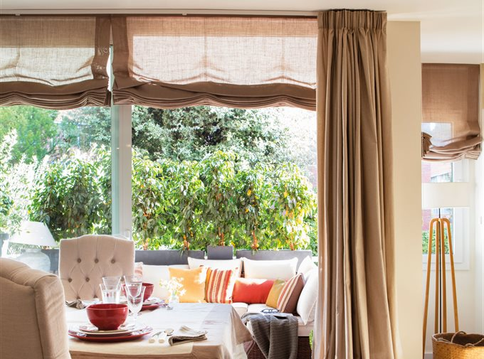 Cortinas cortinas para tu sal n o dormitorio telas e - Cortinas para salon comedor ...