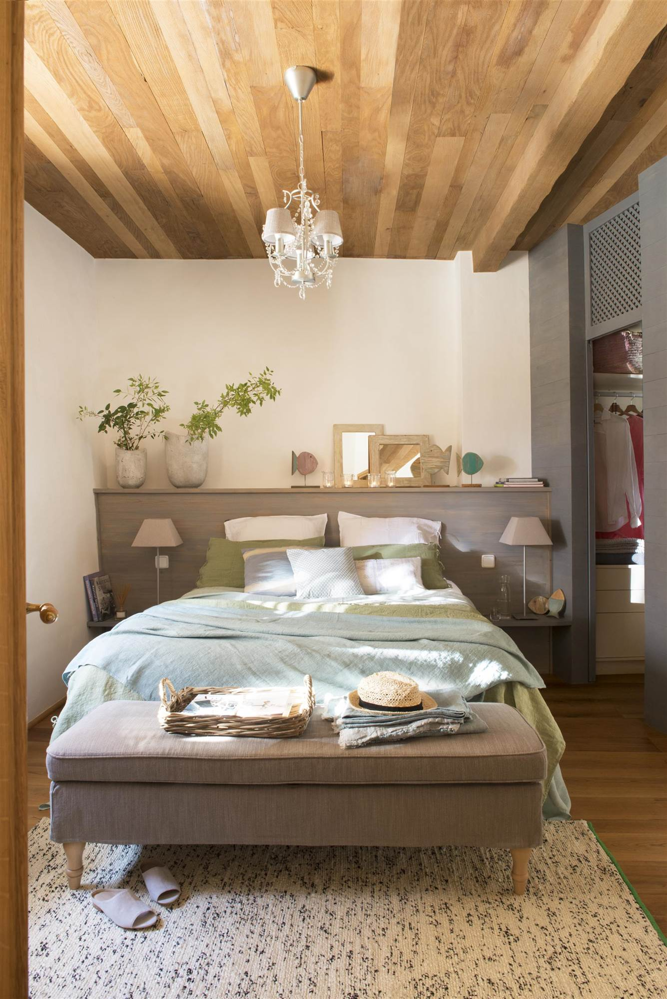 Cabeceros de cama de madera r sticos decorados o - Cabeceros rusticos de madera ...