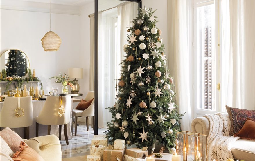 Ideas de decoraci n brillantes para navidad - Arbol de navidad en ingles ...