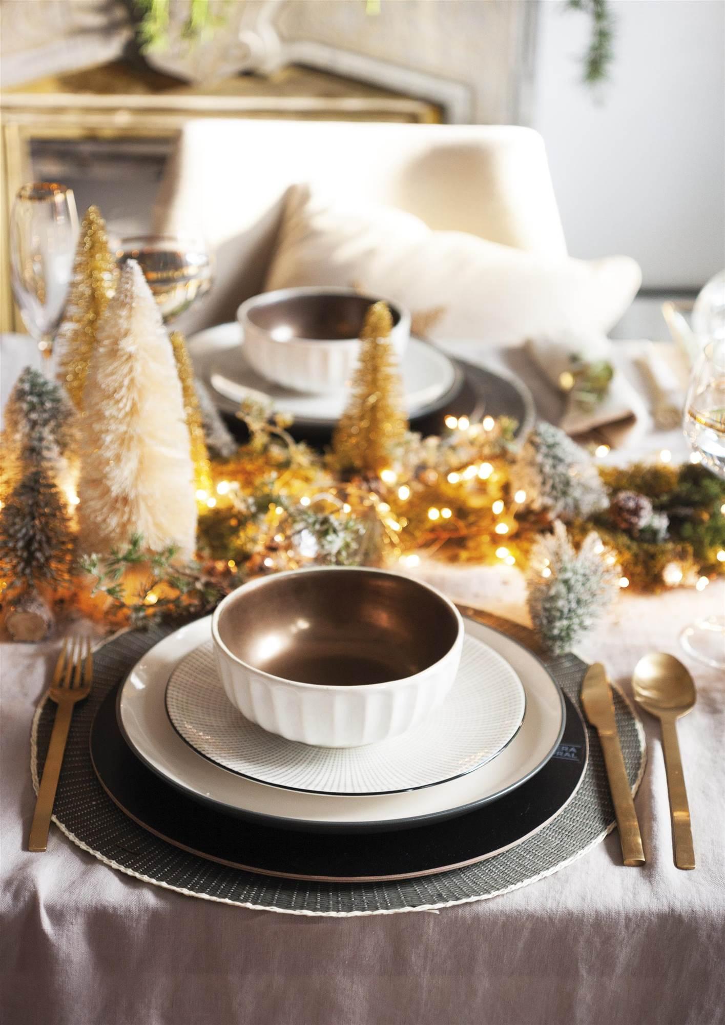 Ideas de decoraci n brillantes para navidad - Mesas de rincon el corte ingles ...