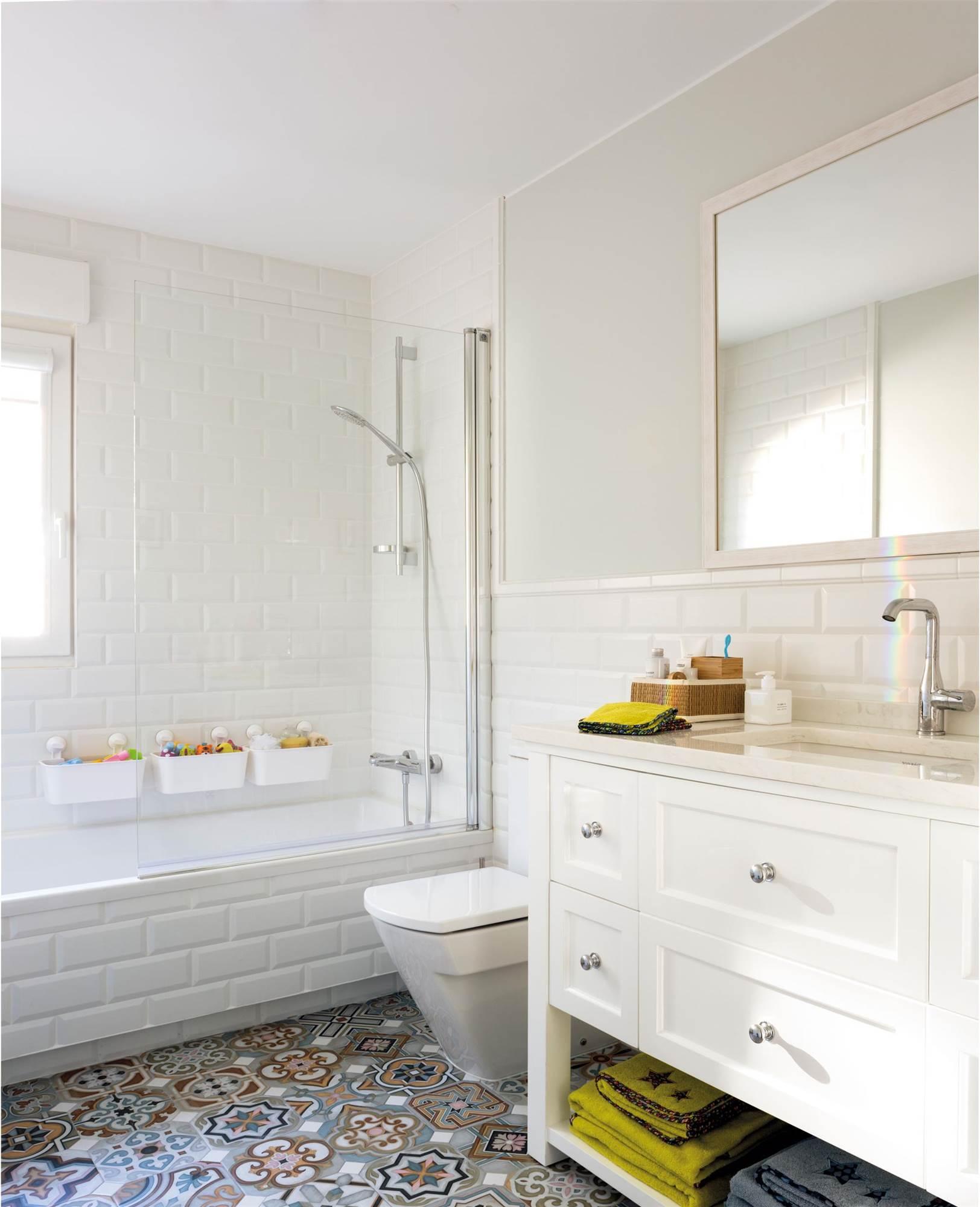13 espacios decorados con baldosas tipo metro - Baldosas cuarto de bano ...