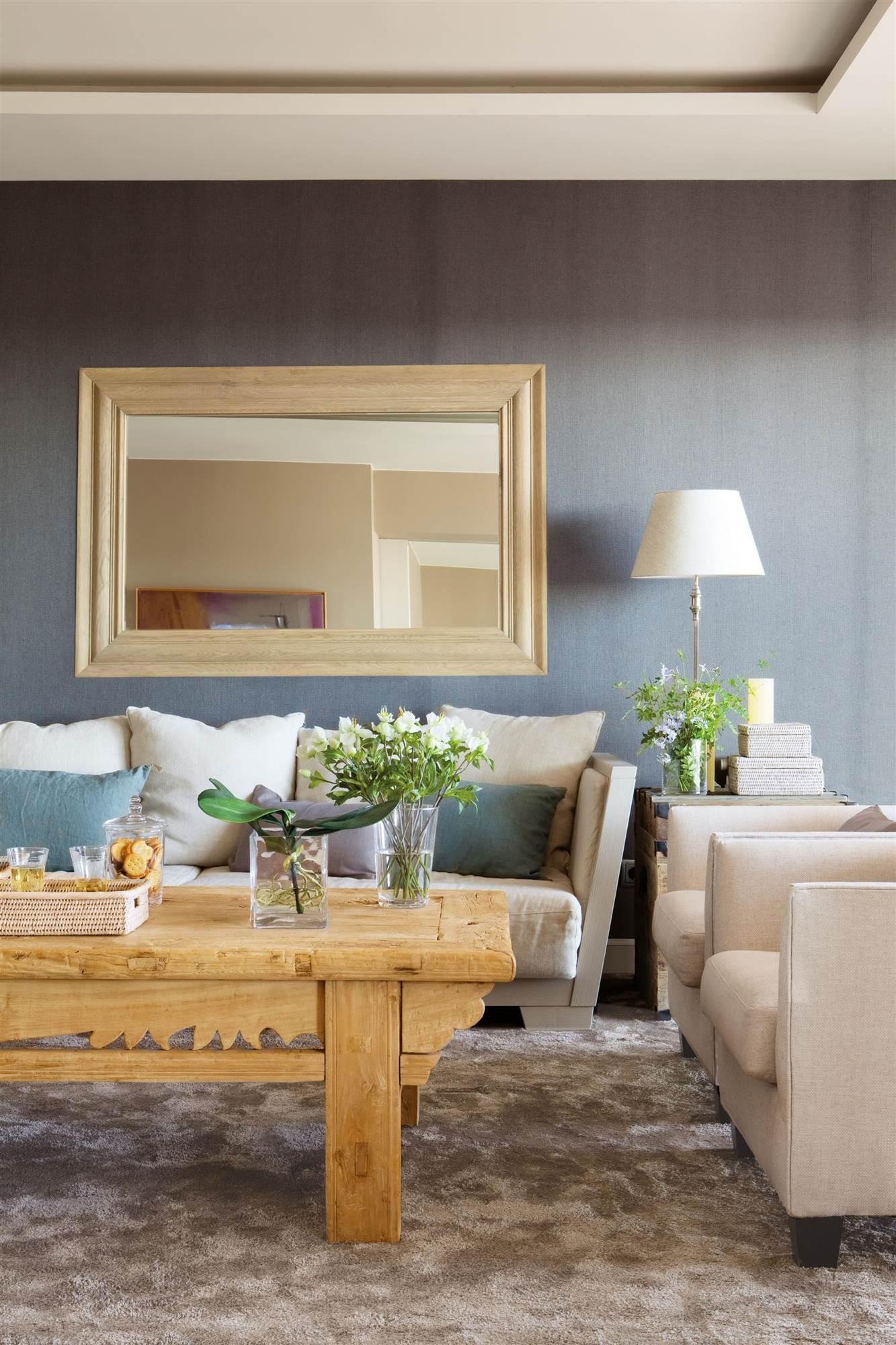 906 fotos de espejos for Espejos pared salon