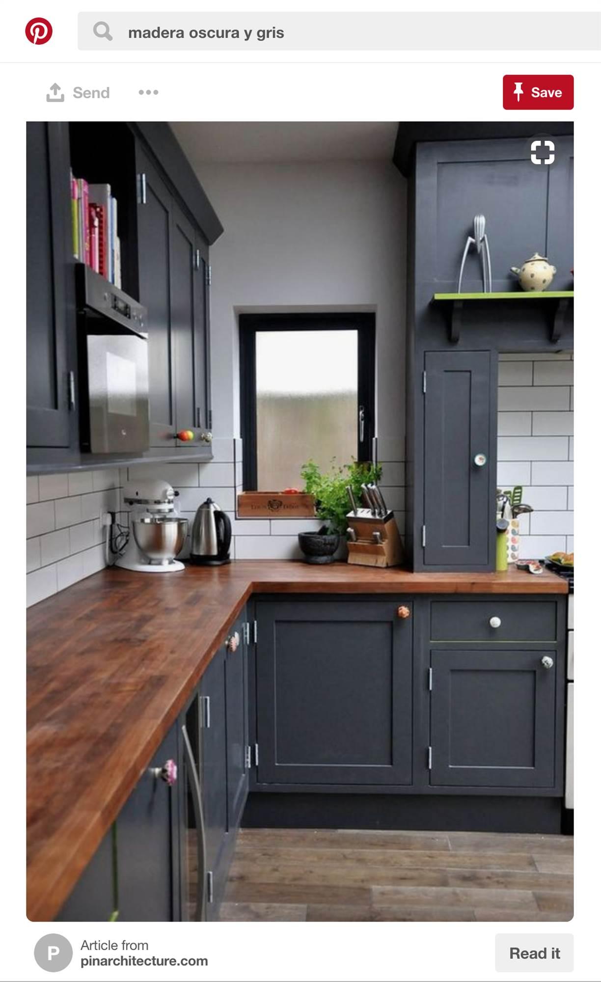 madera oscura 2. cocina de madera oscura 2