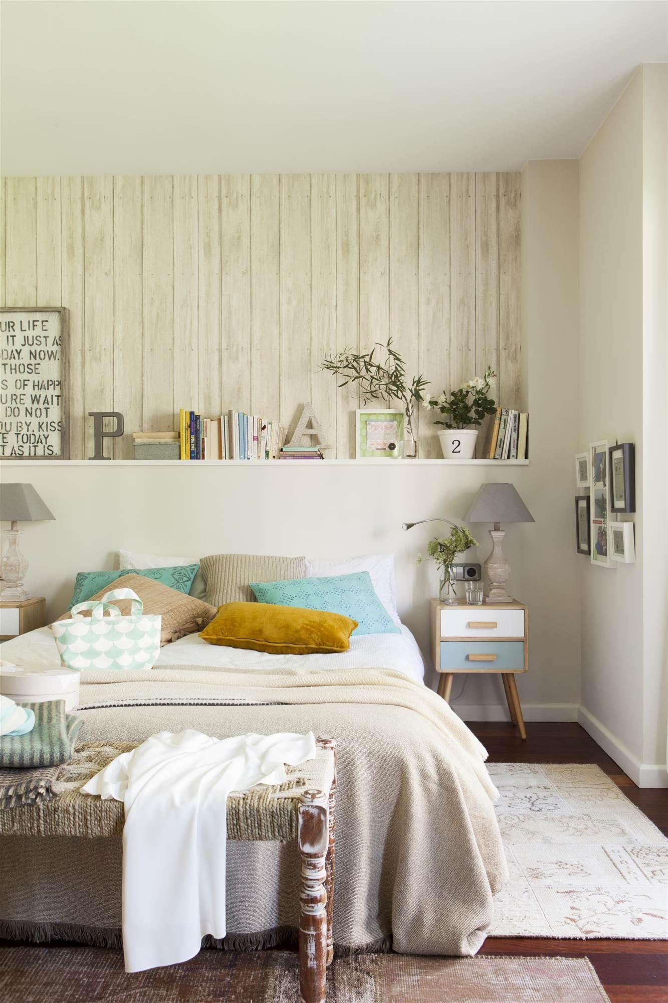 Saca todo el partido a la pared de tu dormitorio - Cabeceros papel pintado ...