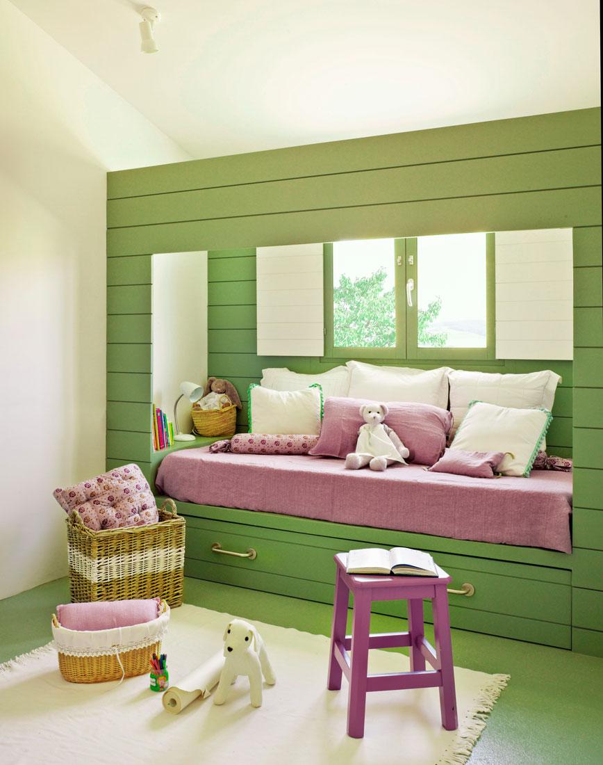 Colores para dormitorios infantiles - Dormitorio verde ...