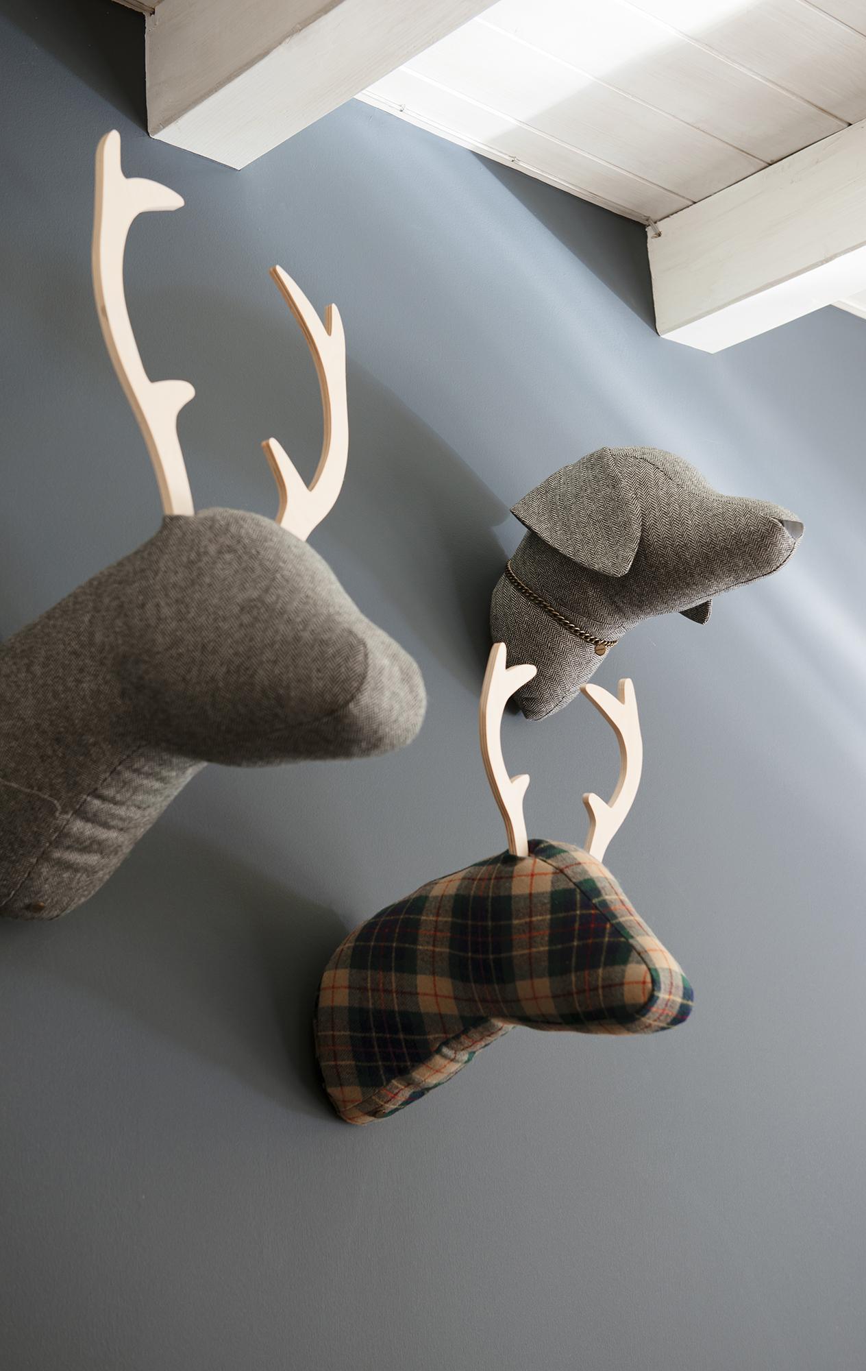 Flechazo de invierno - Cabezas animales tela ...