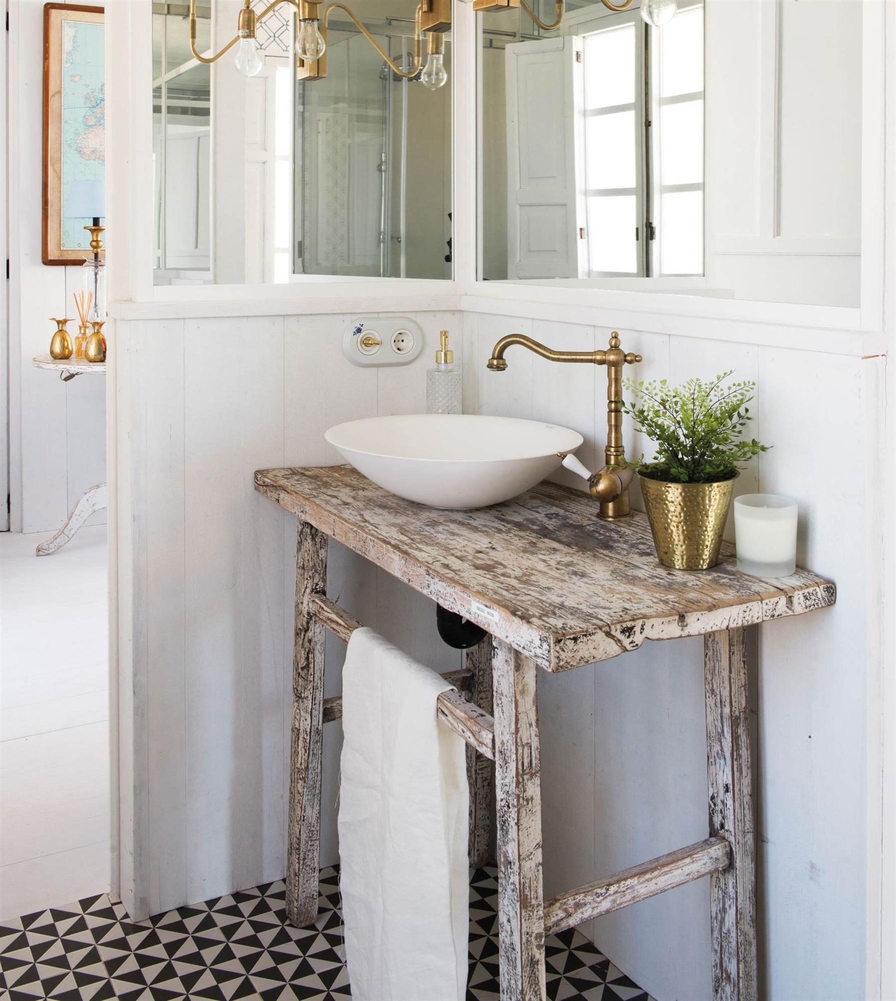 Muebles vintage for Muebles de lavabo rusticos