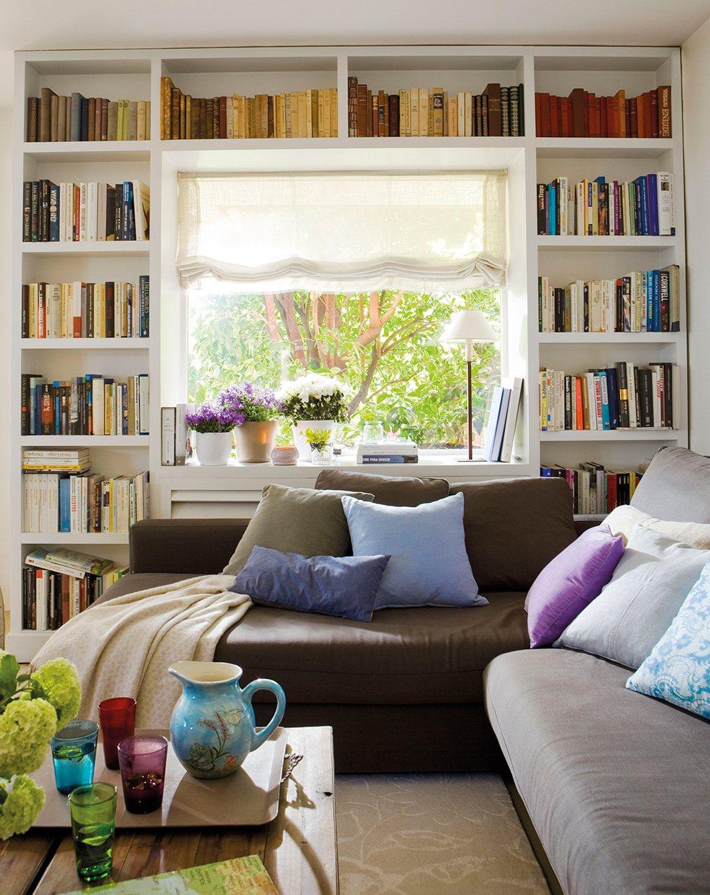 Librer As De Todos Los Estilos En El Mueble # Muebles Bibliotecas Para Living
