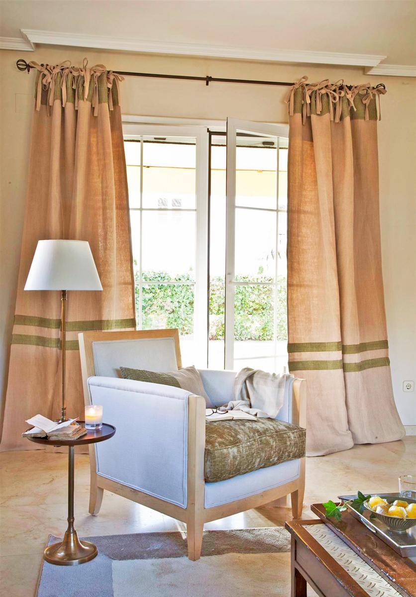 Cortinas perfecta para ventanas ideales - Cortinas de arpillera ...