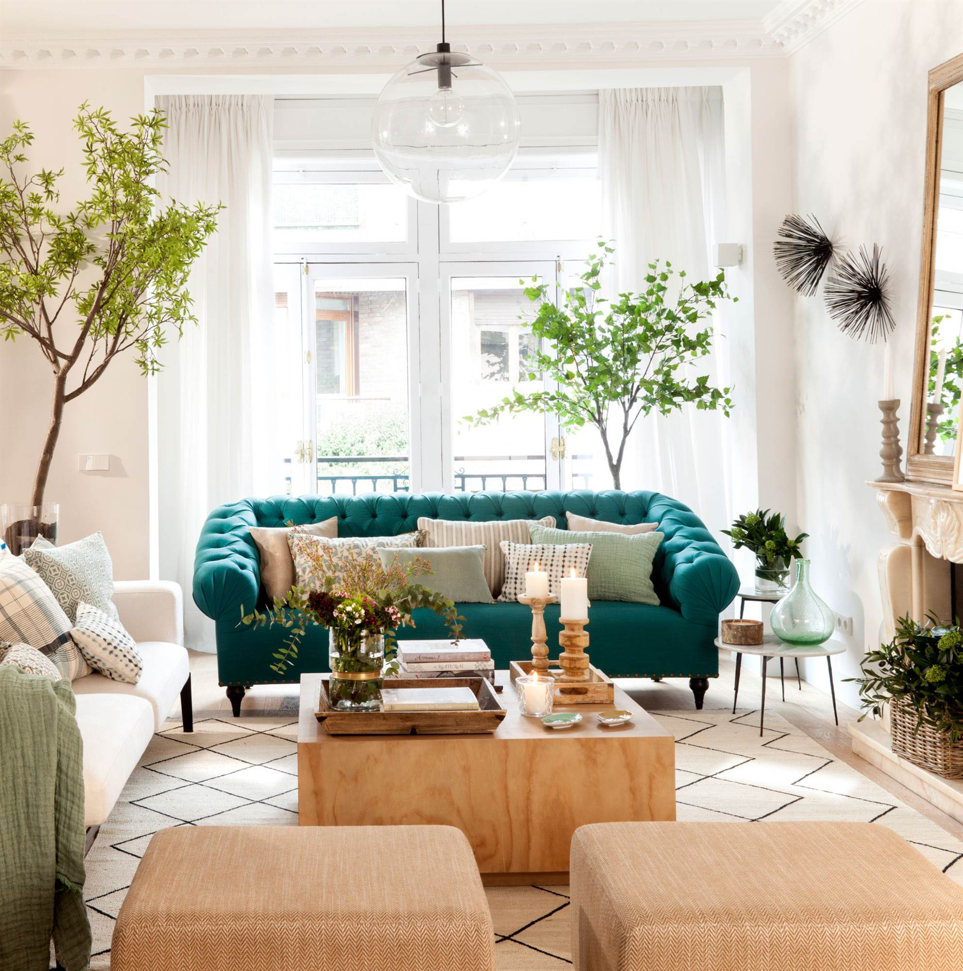 ideas de decoración de sala de sofá de cuero marrón Sof Chster
