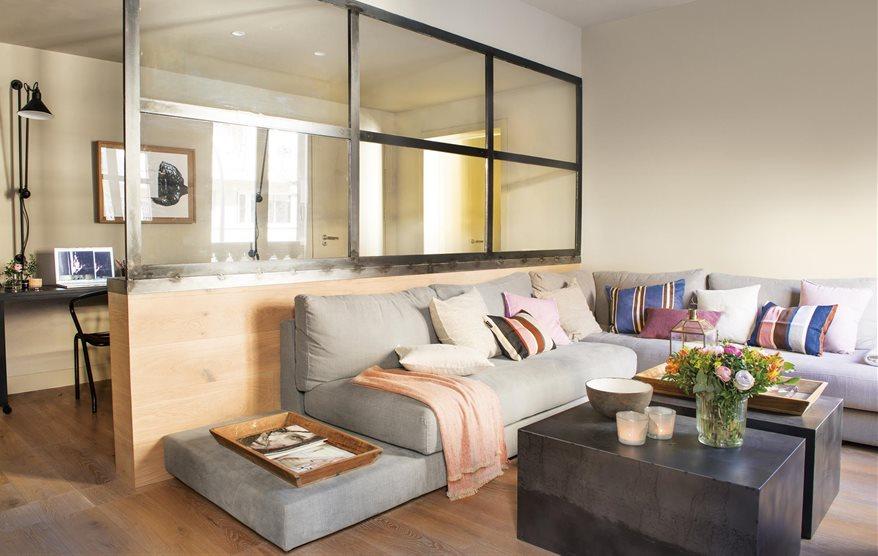 Un piso de 65 metros con buenas ideas for Decoracion de casas de 65 metros cuadrados