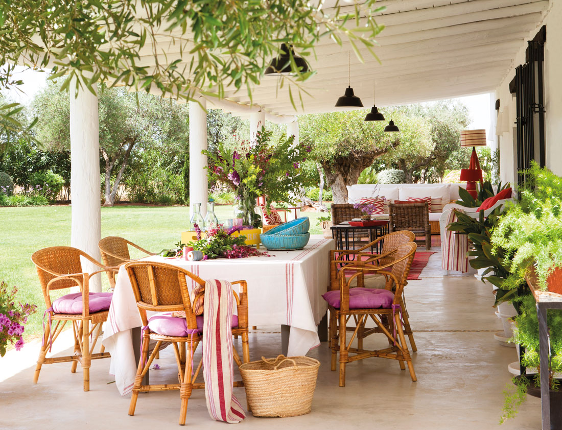 Los 50 mejores porches y terrazas - Como decorar un porche abierto ...