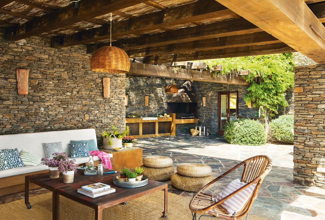 Los 50 mejores porches y terrazas - Barbacoas de piedra natural ...