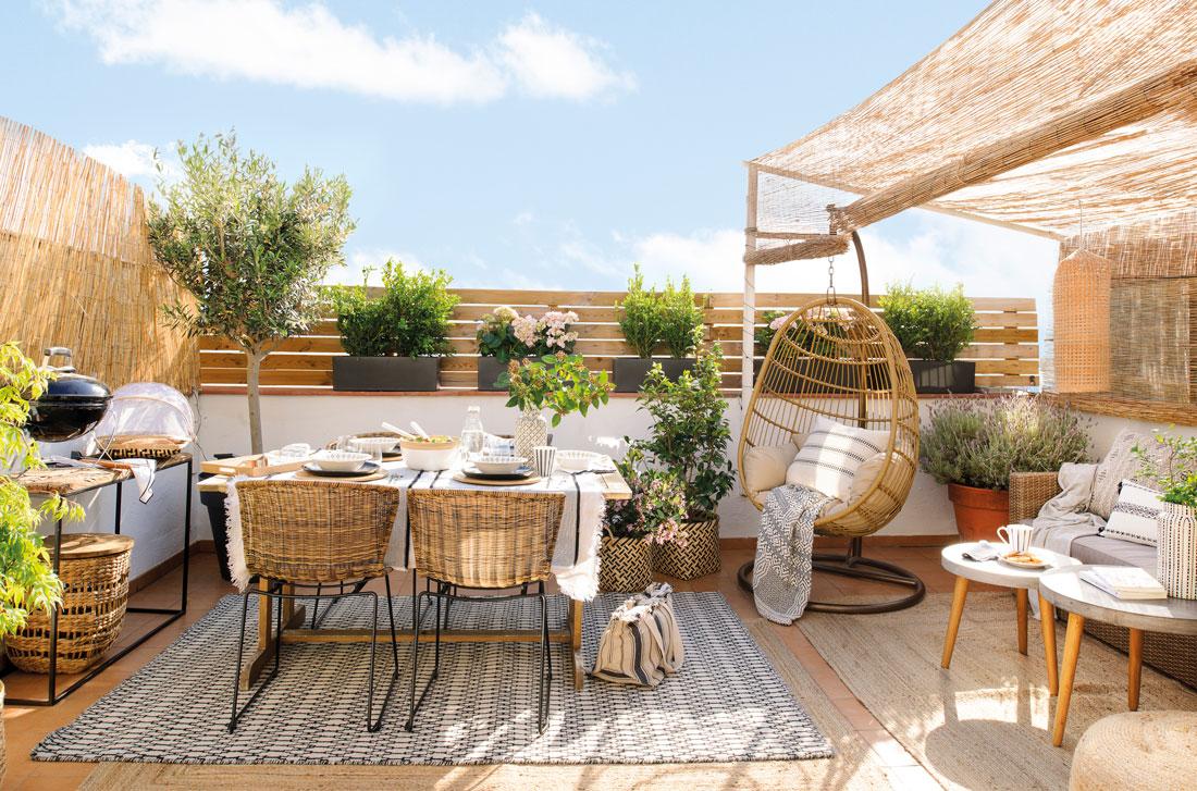 Los 50 mejores porches y terrazas - Comedor terraza ...