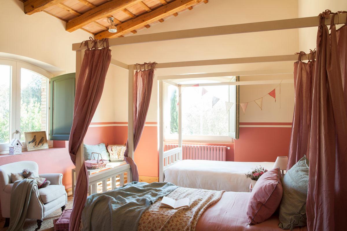 10 dormitorios infantiles r sticos - Habitacion infantil dos camas ...