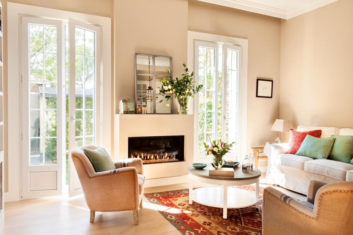 Kilims las alfombras orientales m s buscadas - Salon con sofa rojo ...