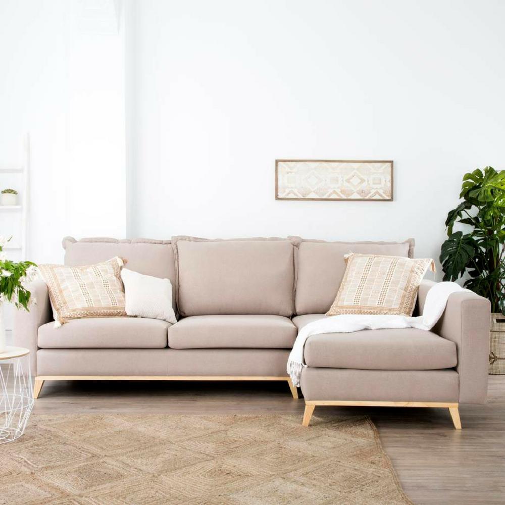 Los 10 mejores sof s de las rebajas for Sofa con chaise longue