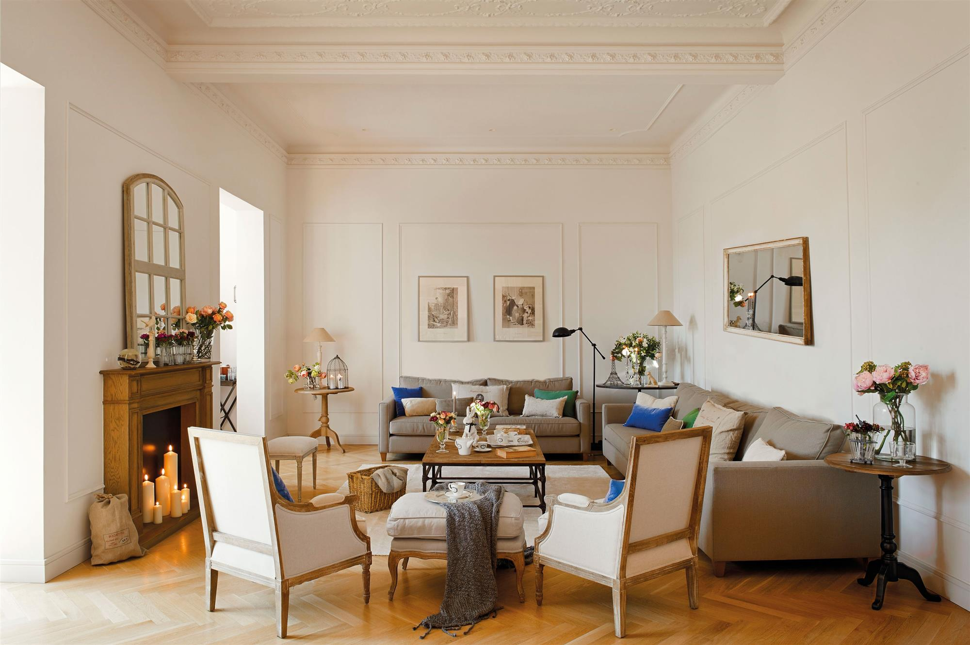Parquet en espiga - Como decorar un salon en forma de l ...