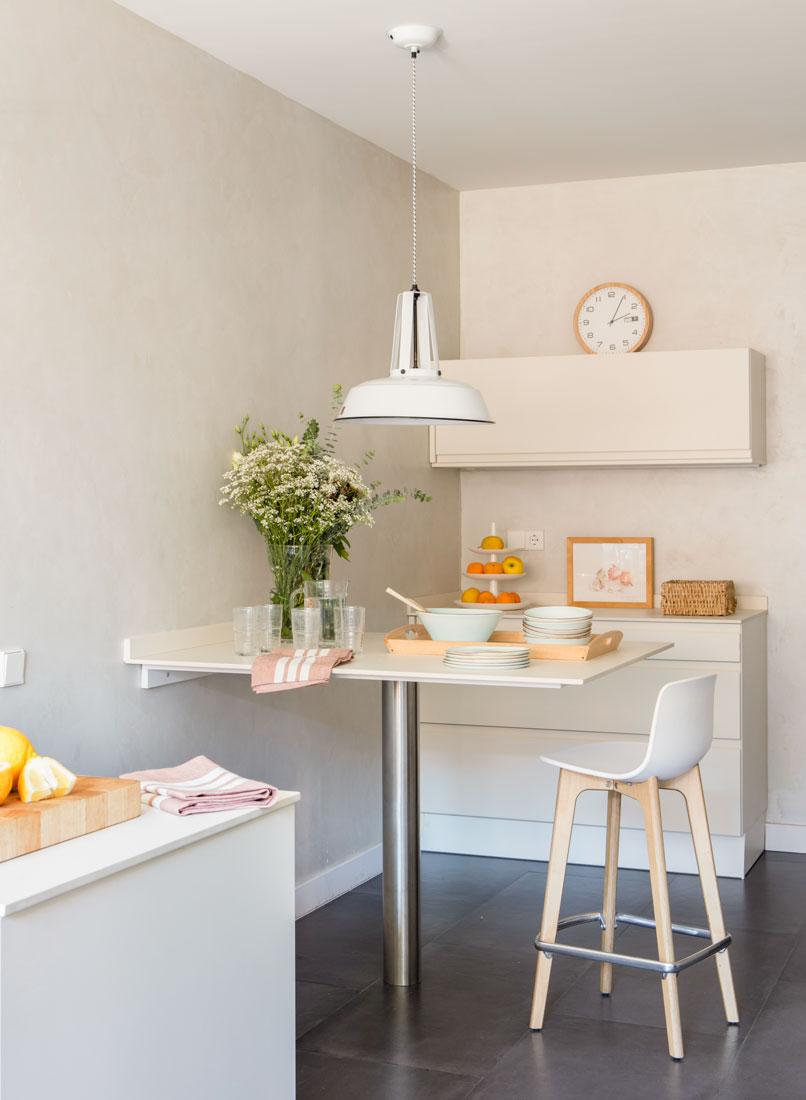 10 aparadores con estilo para toda la casa - Mesa pared cocina ...
