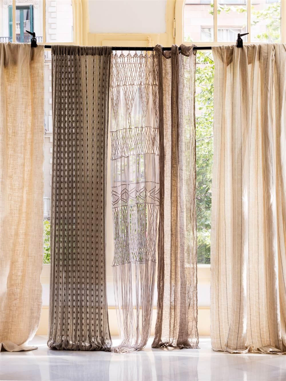 Elige el tejido perfecto para cada cortina for Telas para cortinas salon