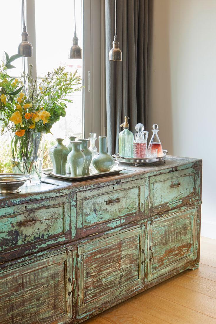 Colores vintage con efecto desgastado y decapado for Muebles de efecto industrial