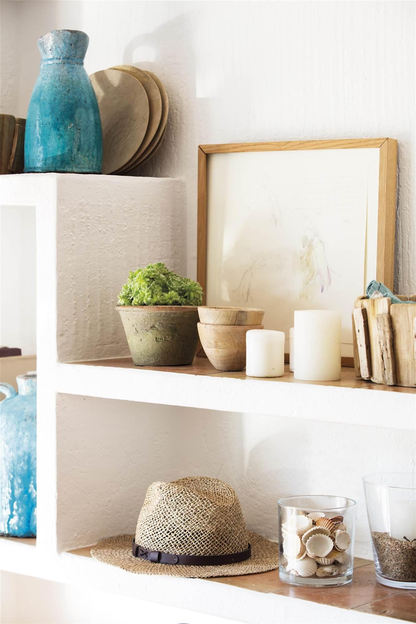 46 fotos de muebles de obra - Estanteria para plantas ...