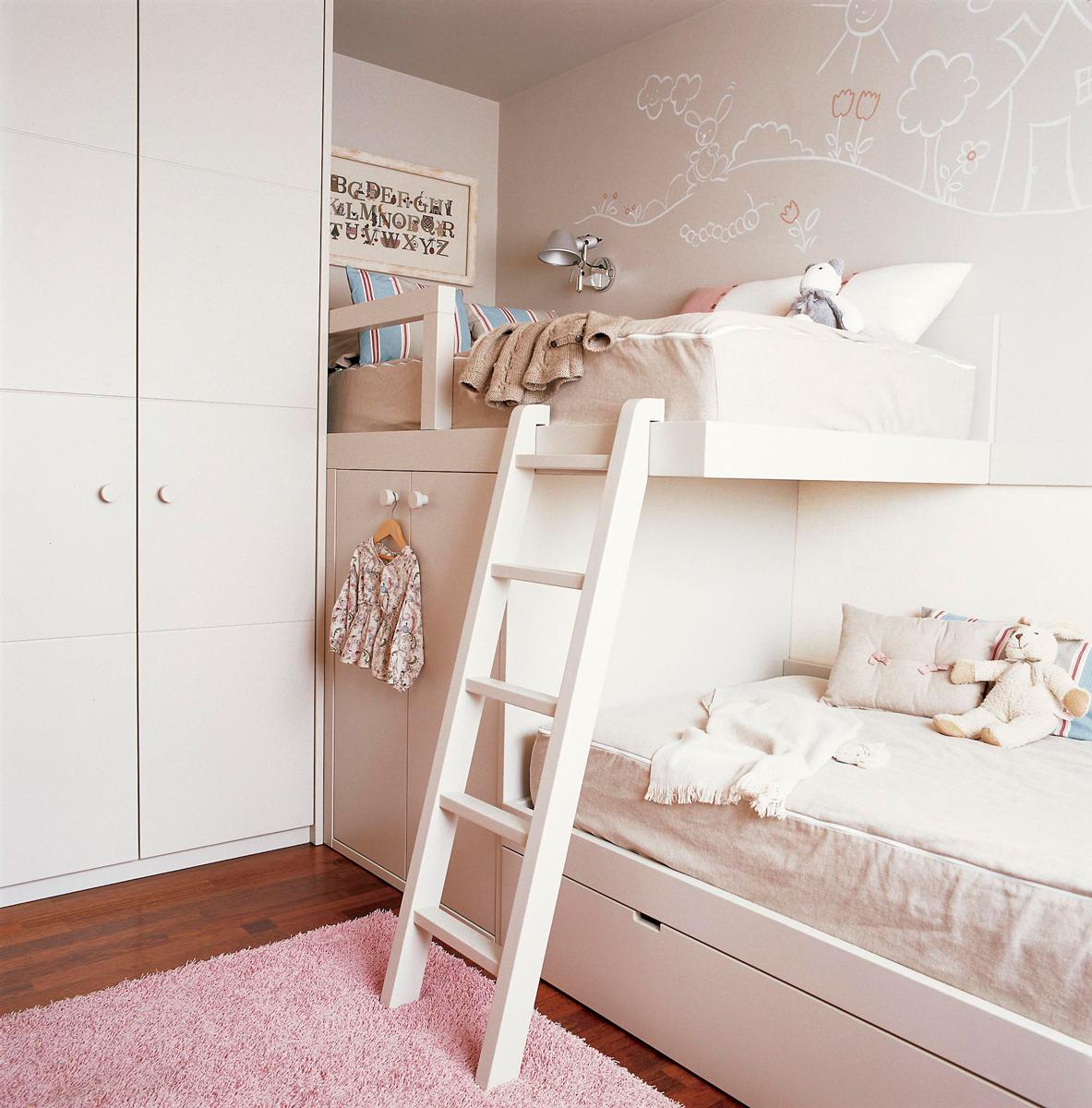 Ni os muebles y decoraci n de habitaciones infantiles - Literas tipo tren medidas ...