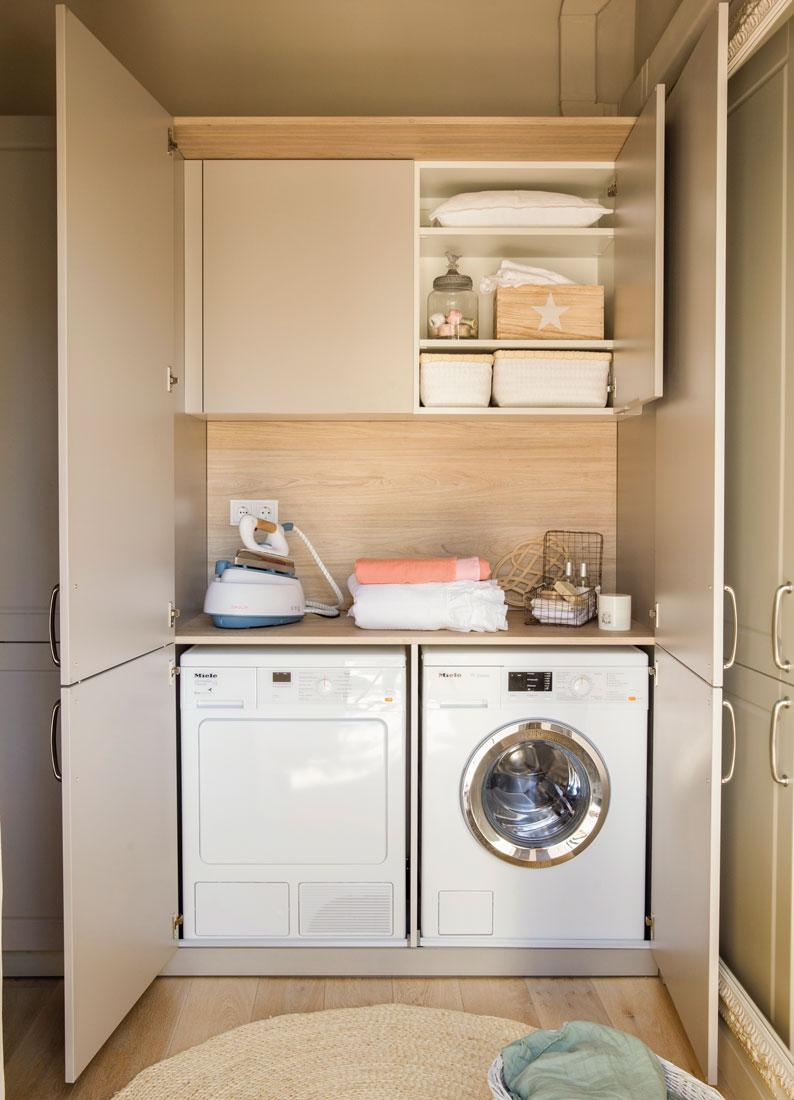 Orden en el rinc n de la plancha - Armarios para lavadoras ...