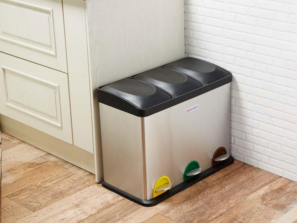 Orden a la hora de reciclar for Cubo basura extraible ikea