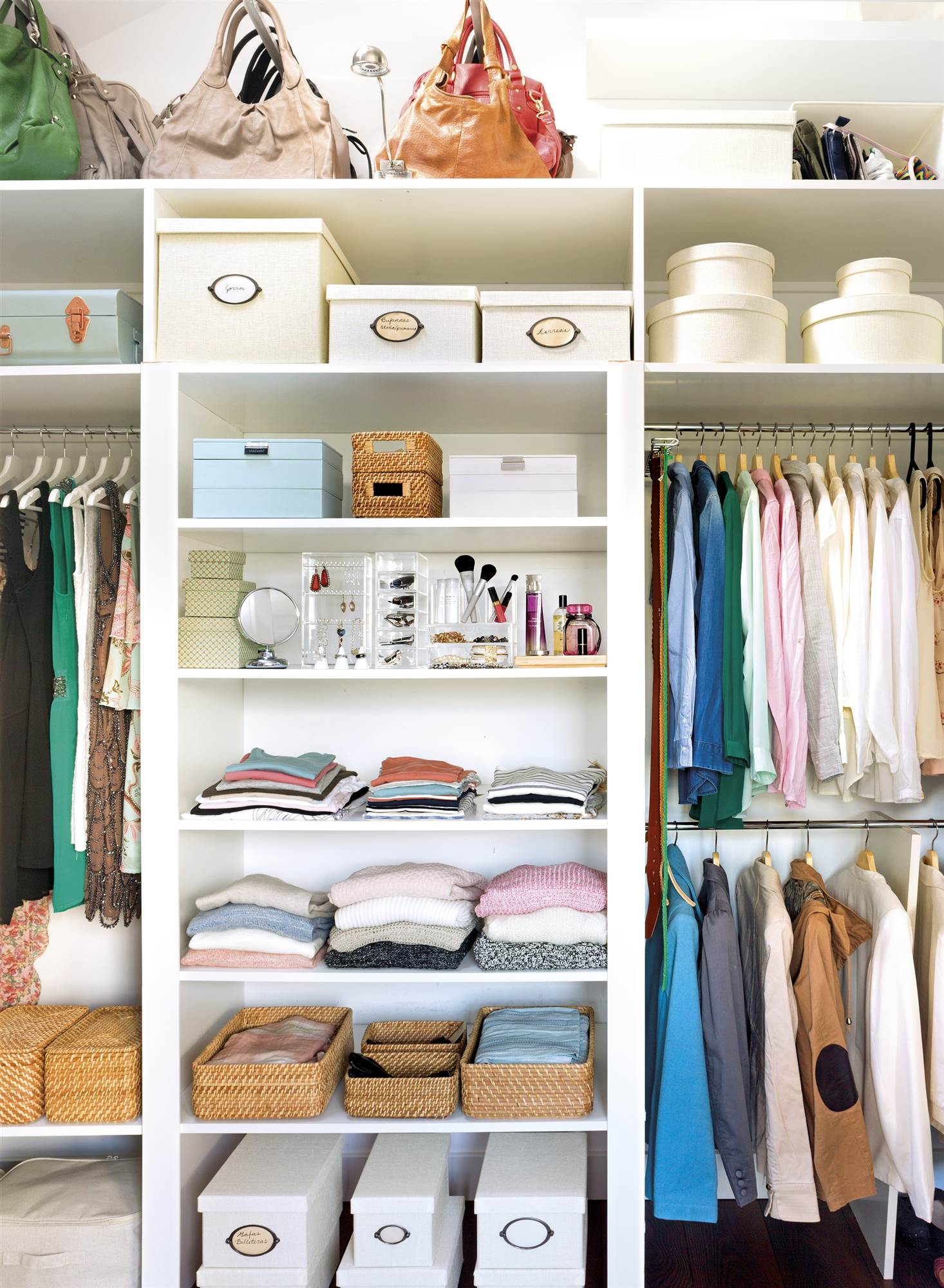 C mo ordenar el armario paso a paso - Como organizar un armario empotrado pequeno ...