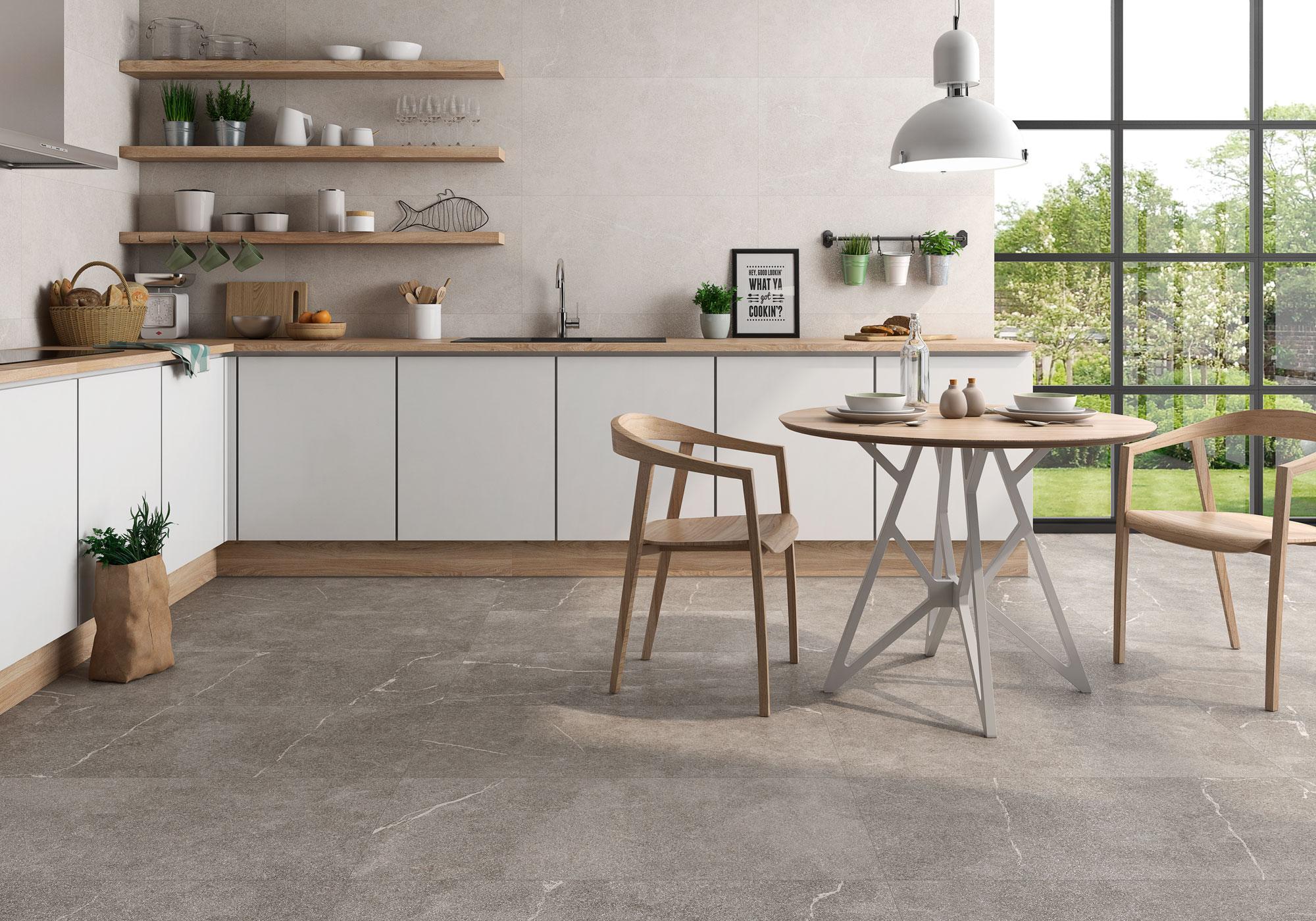 202 fotos de suelos - Cocinas con suelo gris ...
